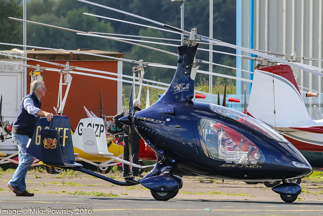 G-SJEF - 2015 build Rotorsport UK Cavalon, at Halfpenny Green during the 2016 Rotorsport Autogyro Fly-In