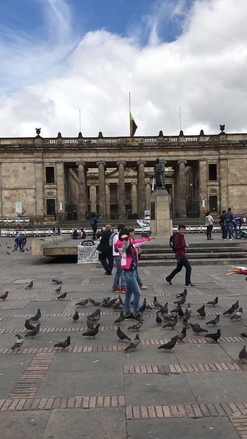 Plaza de Bolívar, Bogotá, Colômbia.
