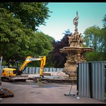 Ross Fountain is getting repaired