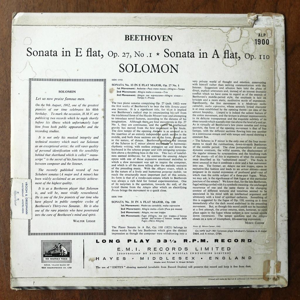 Backside Beethoven - Piano Sonatas No 13 op 27 No 1 & No 3