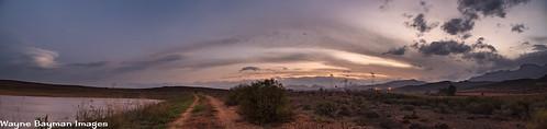 robertson storm sunset panorama