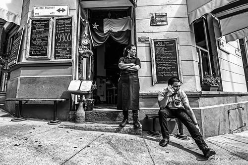 mariorasso nikon d810 valparaiso chile blackandwhite blackwhite woman street hill