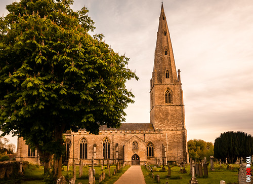 british uk architecture blue building church color gothic green leadinglines nature northamptonshire olney religious sky spire structure tower tree