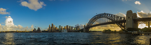 sydney sydneyharbour sydneyoperahouse sydneyharbourbridge coathanger bridge newsouthwales australia city cityscape cityview water kirribilli panorama pano panoramic photo travel view sky yellow olympusem10 olympus olympusomd stunning wow beautiful amazing photogenic photography photograph cbd downtown circularquay waterway urban ilovesydney flickrheroes