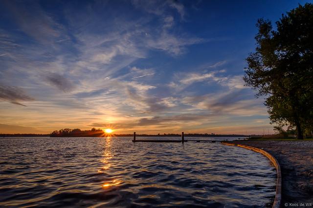 Sunset at lake Paterswoldsemeer