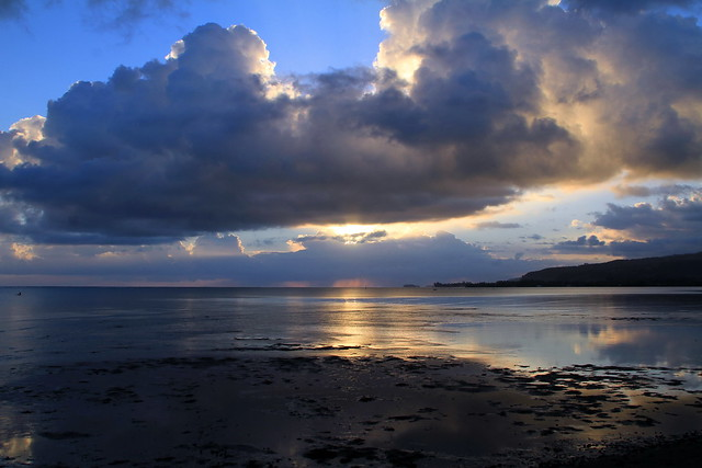 Sunset depuis Toahotu à Tahiti