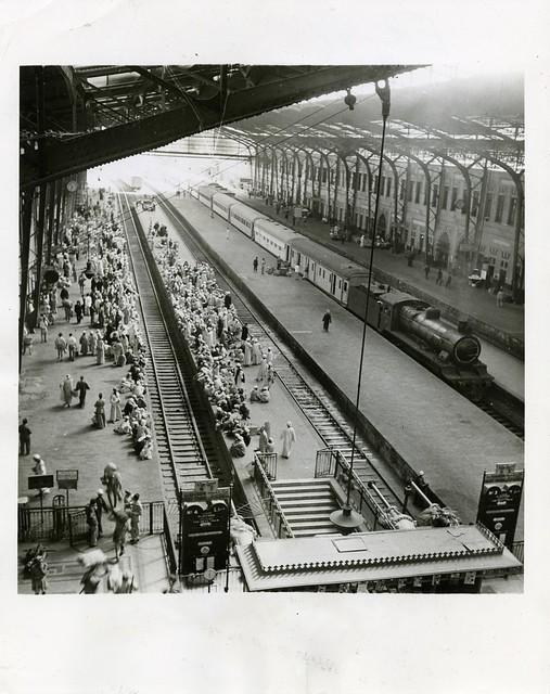 Egypt Railways - Cairo Central Train Station, 12 November 1942 - a passenger train inside the station building