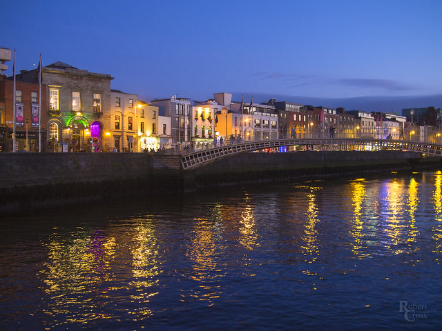 Blue Hour Along the Liffey