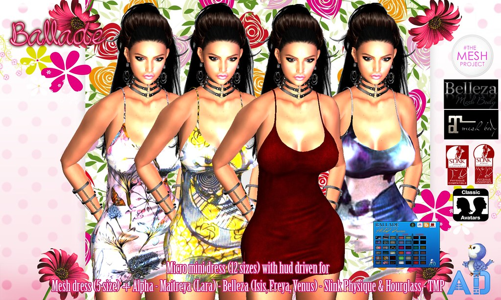 AD] BALLADE micro mini dress with hud driven | -12 sizes to