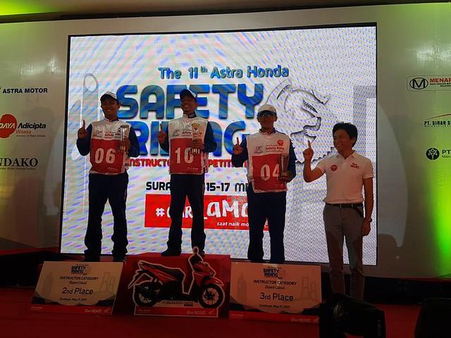Juara 3  kategori Instruktur - Sport