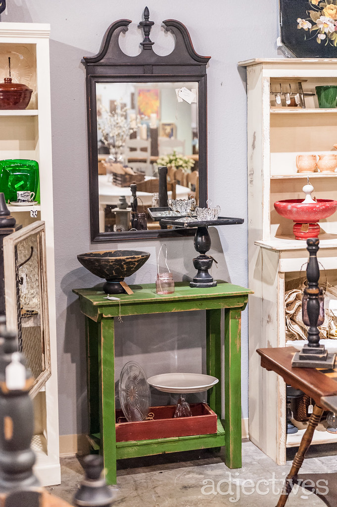 Potting Bench and Mirror in Altamonte by Shaggy's Garden Shed