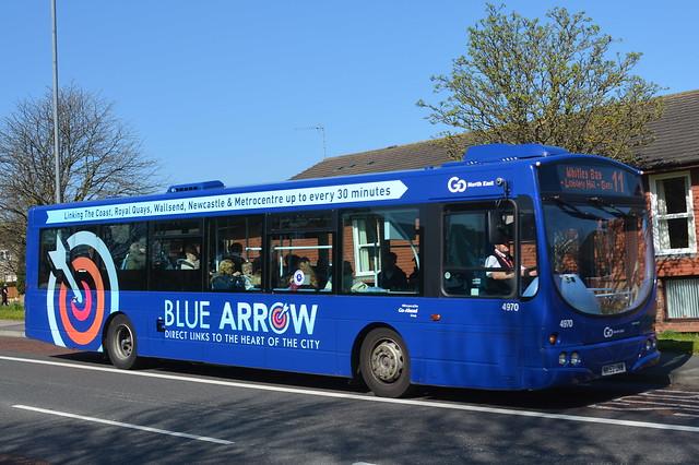4970 NK53 UNW Go North East Blue Arrow