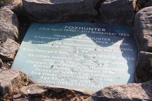 Blorenge - Plaque marking the grave of Foxhunter (Dickie-Dai-Do)