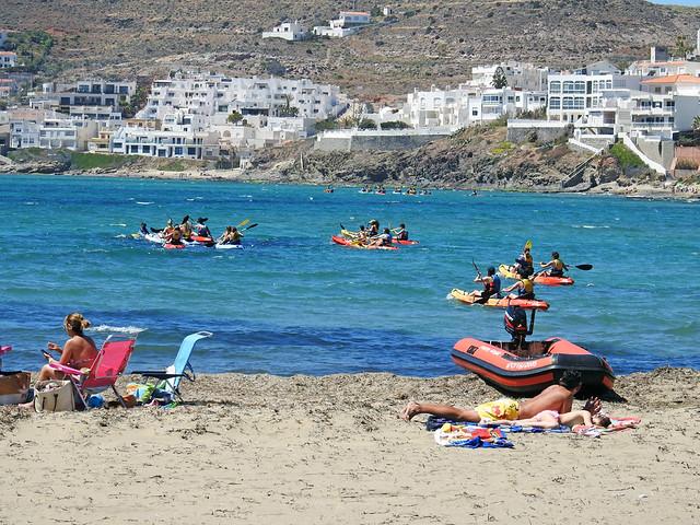 escenas de playa - San José.