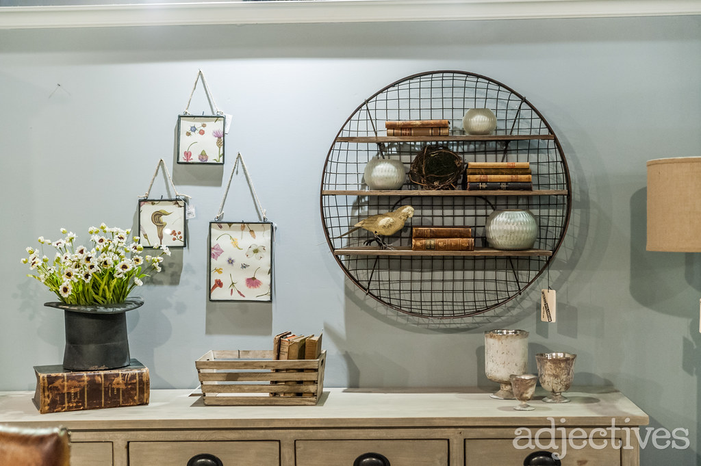 Vintage hanging wall art and home decor at Adjectives Altamonte
