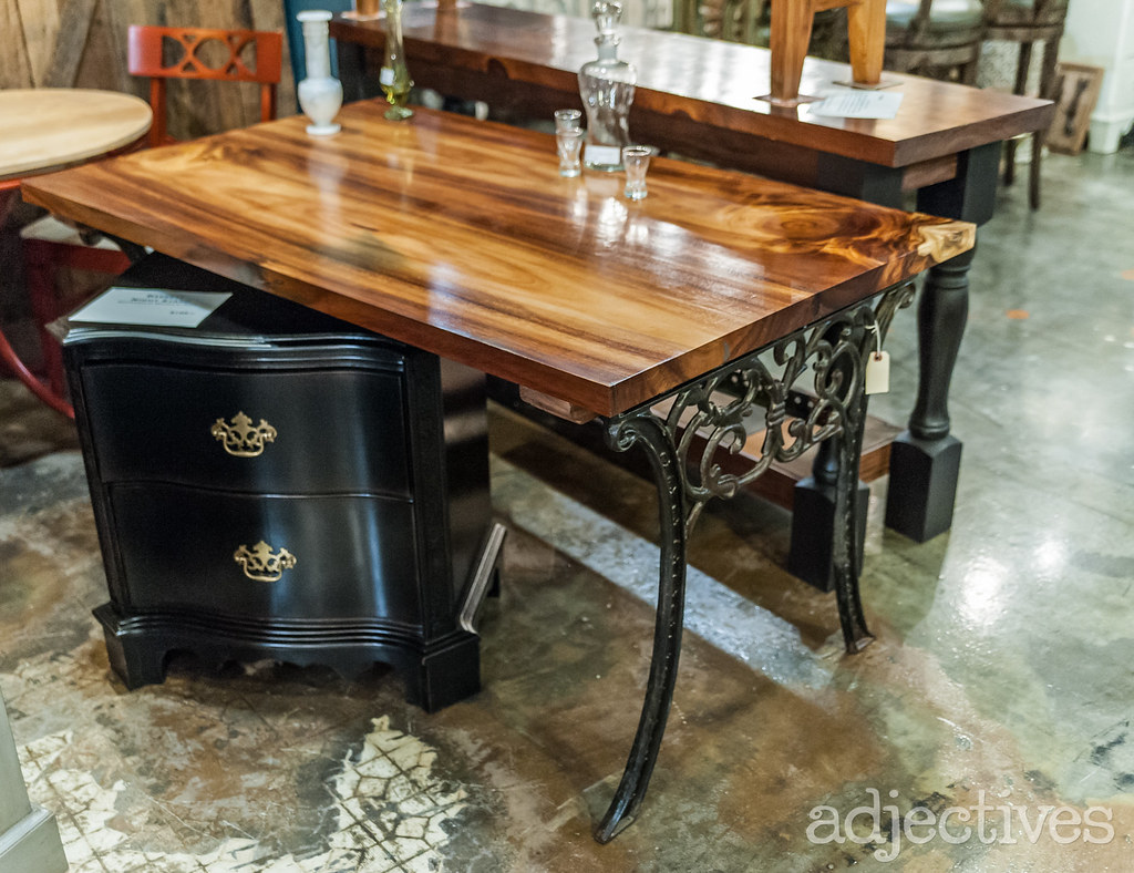 Painted nightstand and Custom desk in Altamonte by Refined By David