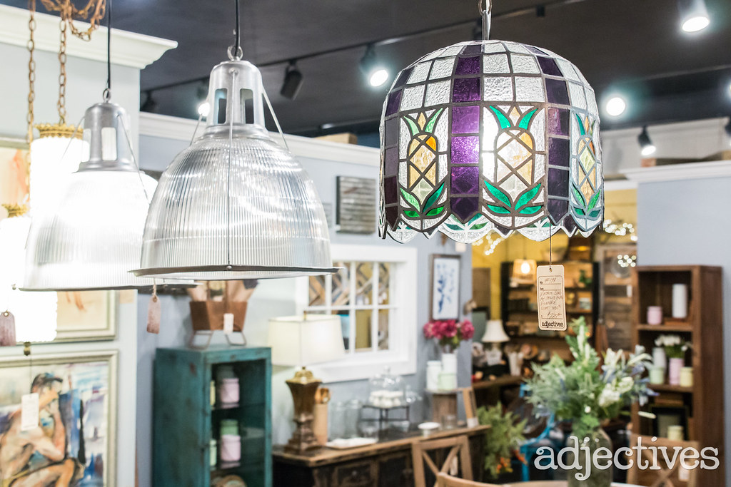 Vintage lighting in Winter Garden by The Rustic Punk