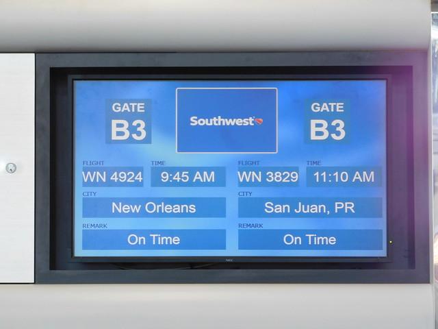 Our Flight Board to San Juan