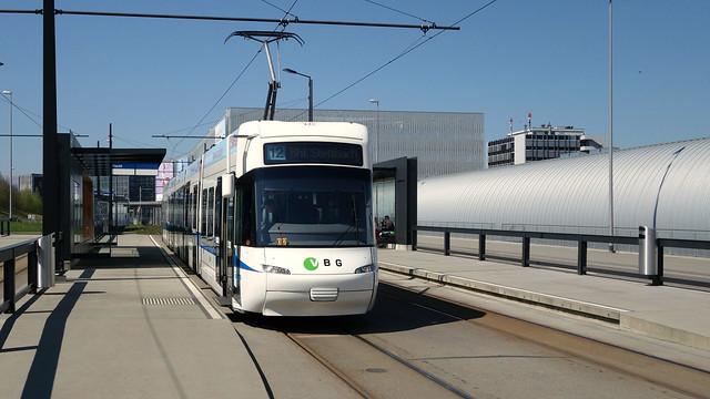 Glattalbahn - Be 5/6 der VBG in Zürich Flughafen  Fracht