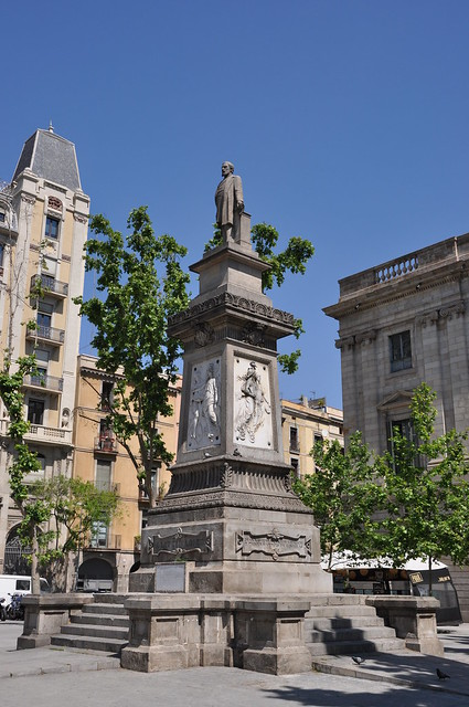 Barcelona. Monument to Antonio López y López. 1884 (statue on the top destroyed in 1936 and replaced by a replica in 1943).