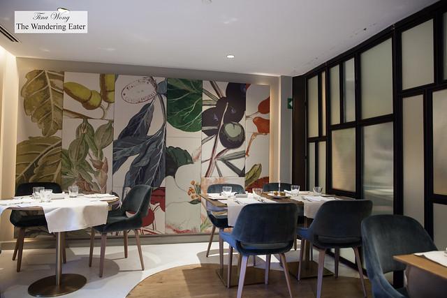 Interior of hotel's restaurant