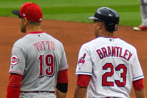 Joey Votto and Michael Brantley | by EDrost88