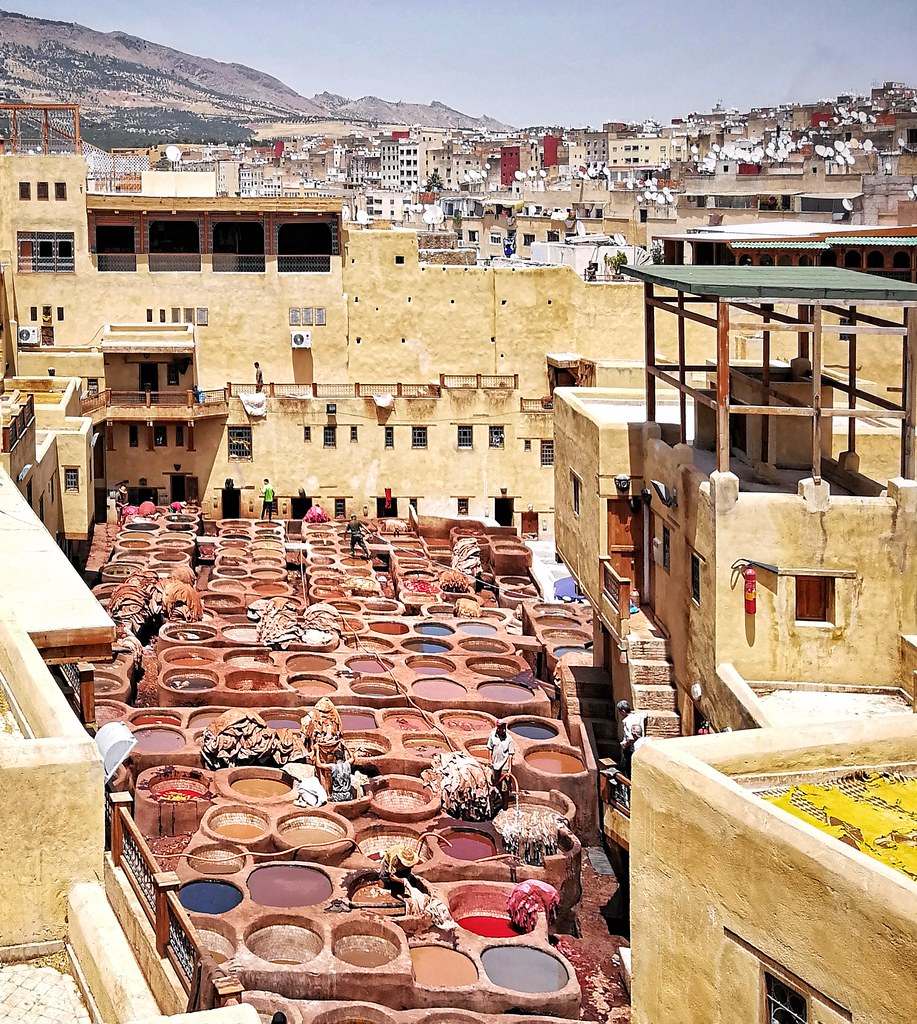Tanneries in Fez, Morocco   Fes, Morocco, 2017 margari net