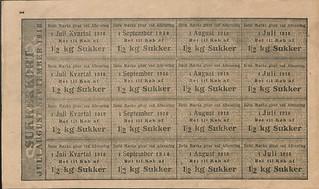 rationeringsmærker, sukker 1918