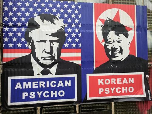 American Psycho Korean Psycho, Charing Cross Road, London, UK | by gruntzooki