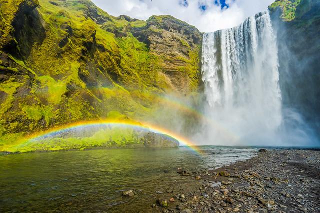 Rainbow waterfall, Skógafoss