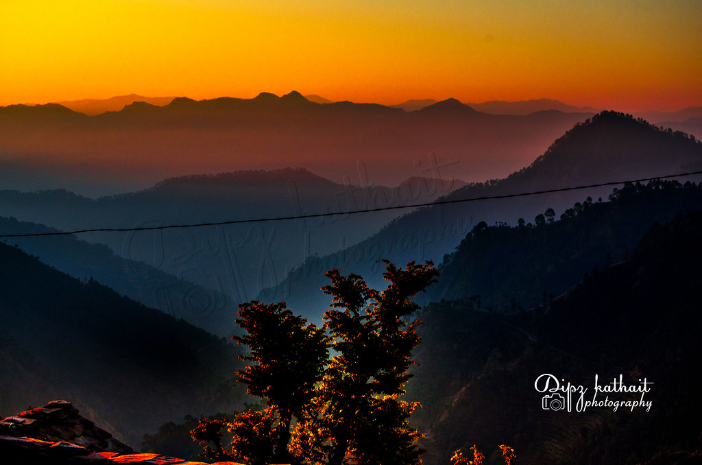 Beautiful Sun Rising Sky And Mountains Uttarakhandindia Flickr