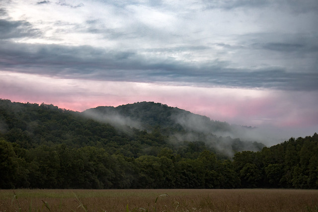 Sunset, Fog, Big Bottom, White County, Tennessee 2