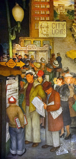 """""""City Lights, City Life""""  • Coit Tower, 1934 - Artist, Victor Arnautoff, (1896-1979)"""