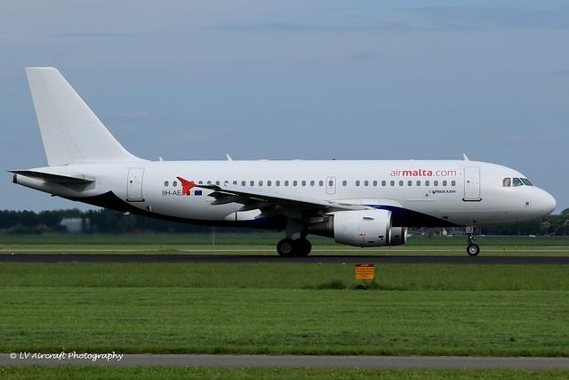 9H-AEJ_A319_Air Malta_hybrid Atlantic Airways