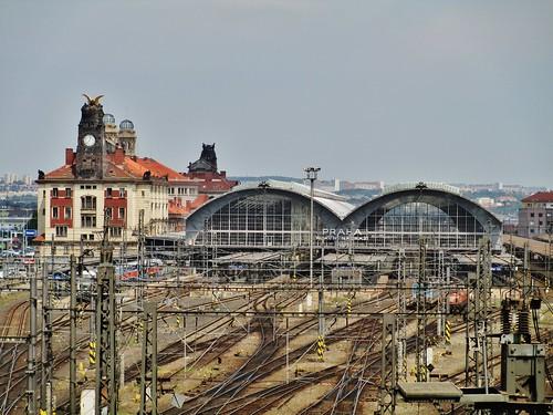 Main Railway Station, Prague, Czech Republic.
