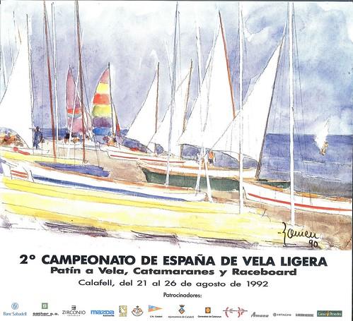 Cartell del Campionat d'Espanya de Vela Lleugera del 1992