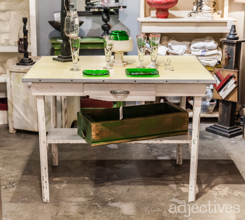 Shabby Chic white kitchen table by Shaggy's Garden Shed at Adjectives Altamonte