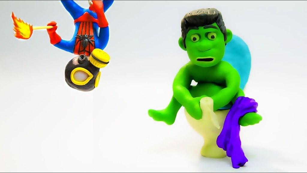 Kids spiderman hulk videos for Funny cartoons