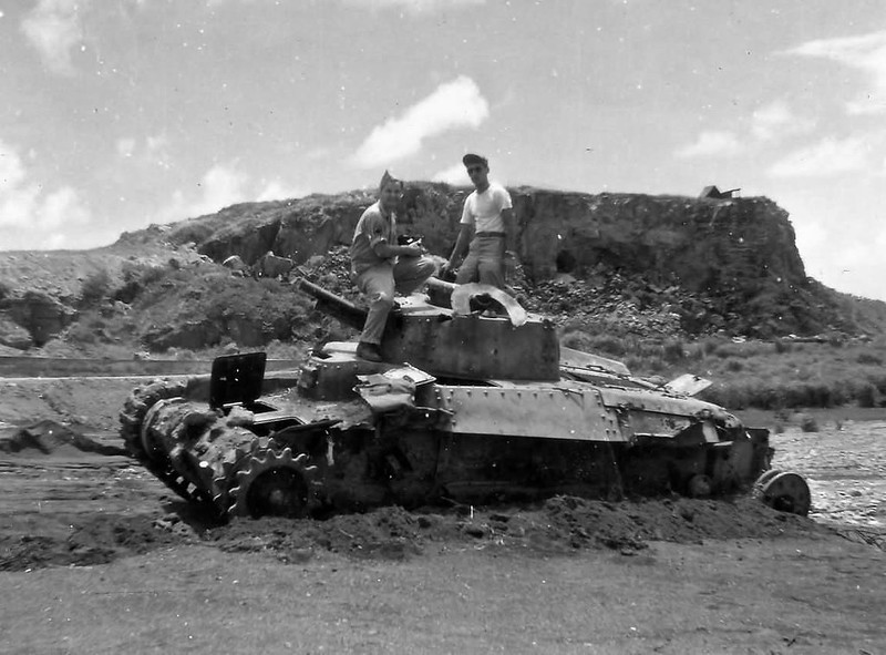 a knocked out Type 97 Chi-Ha