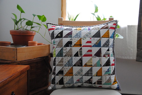 Half Square Triangle cushion