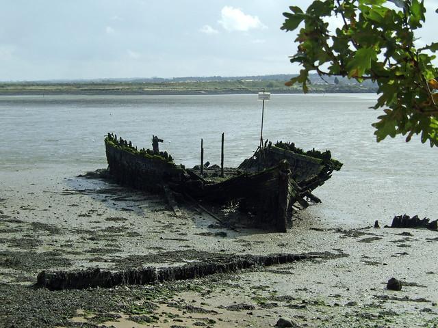 Derelict boat near Hoo St Werburgh