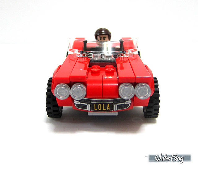 Front view of Red Lola