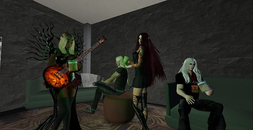 In the Green Room at Live Stage at SL14B by Prettyflower Vale