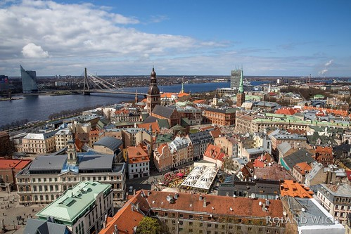 riga lettland latvia baltic balticum state city view vantage point