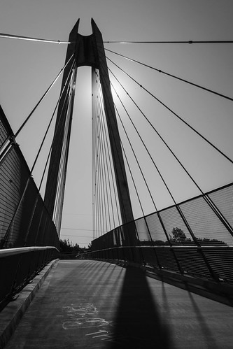 lanecounty heat daylight builtlandscape bridge springfield ndgradfilter transportation zunsorted traffic blackwhite longexposure bikepath atmosphericconditions monochrome silhouettes shadows ndfilter bicyclepath sunlight america oregon sunflare pacificnorthwest pnw upperleftusa