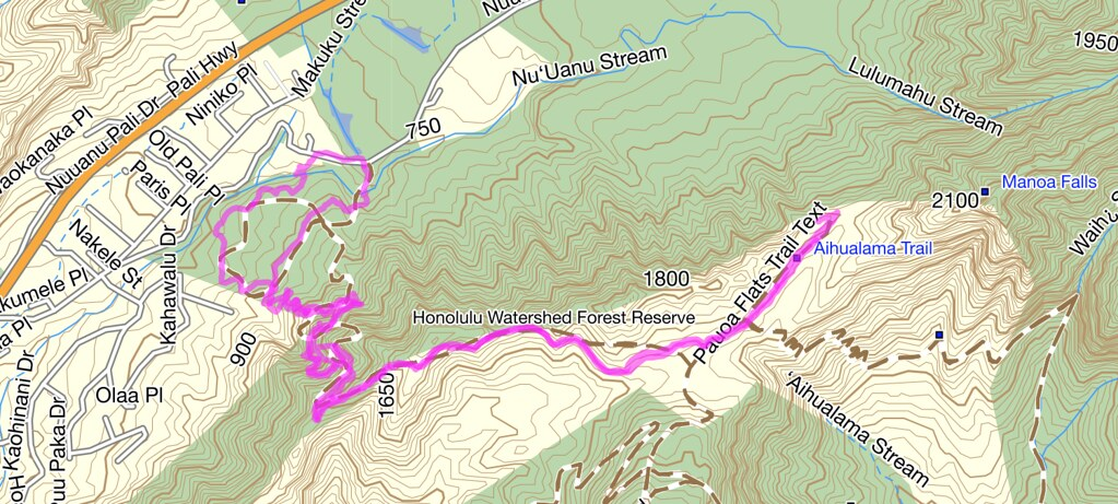 Nuuanu-Judd Trail Topo Map | This is a picture I took from m… | Flickr