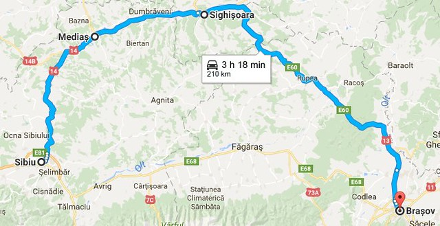 Sibiu-Medias-Sighisoara-Brasov