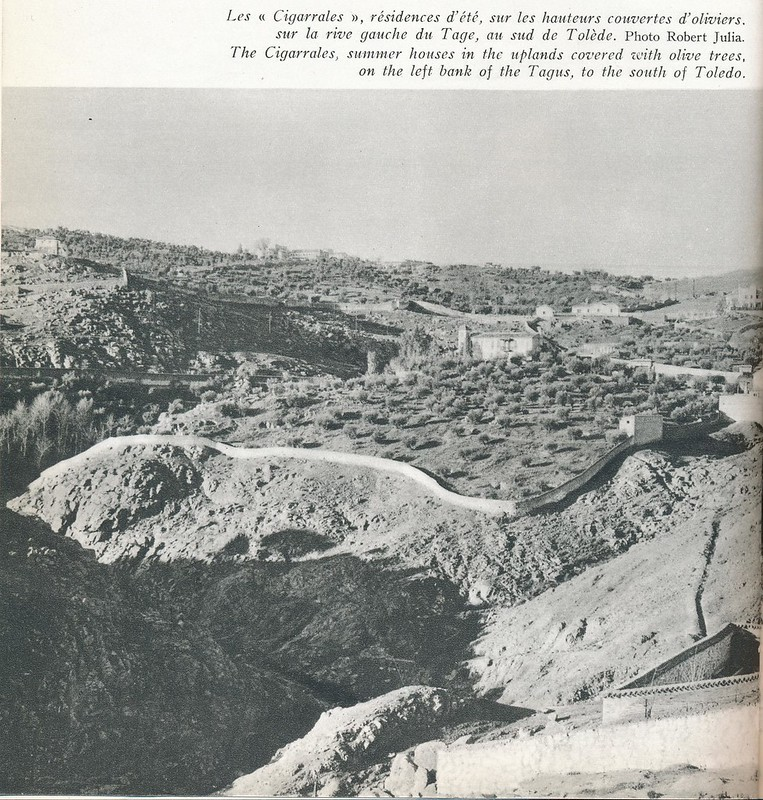 Cigarrales de Toledo y vaguada de Valdecolomba a mediados del siglo XX. Foto de Robert Julia.