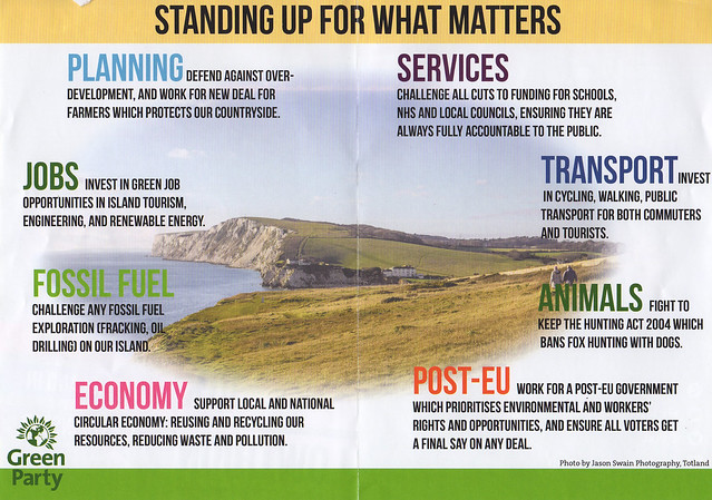Green Party Campaign leaflet