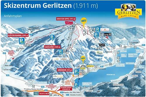 Gerlitzen - mapa sjezdovek